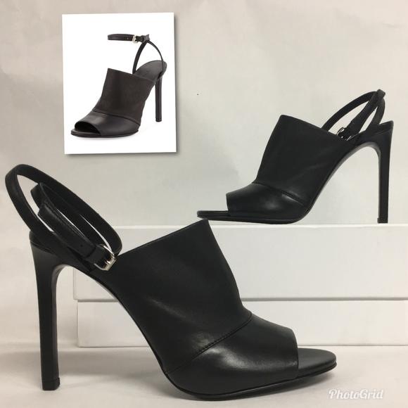 9dd304f141a VINCE Grace Open Toe Mule Sandals Heel Ankle Strap